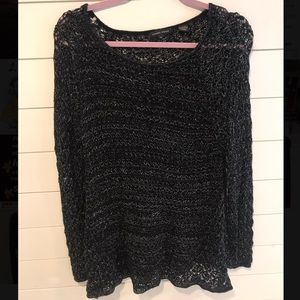🌟 JEANNE PIERRE | 2/$20 Black&Silver Knit Sweater